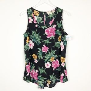 Anthropologie Everleigh Pleated Back Floral Blouse